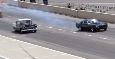 [VIDEO] Intense 1955 Chevy Drag Racing Crash Caught on Camera