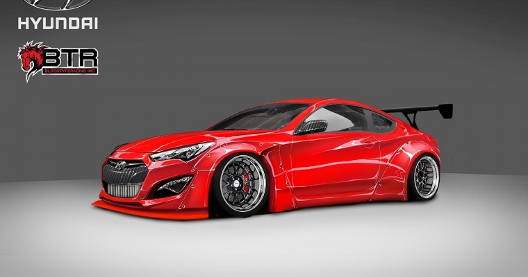BTR Preparing 1,000 Horsepower Hyundai Genesis for SEMA
