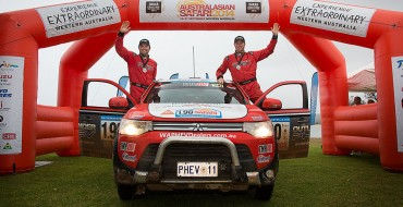 Mitsubishi Ralliart Australia Outlander PHEV Completes Australasian Safari 2014