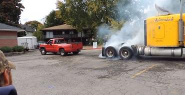[VIDEO] Duramax Silverado Plays Tug-of-War with a Semi