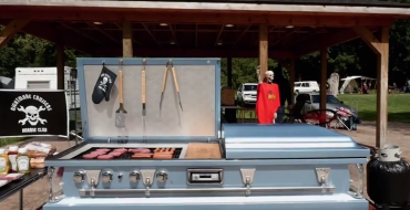 Hearse Gathering Serves as Location for Open Casket Bar and Grill