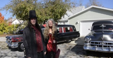 [VIDEO] Peculiar Couple Drives Vintage Cadillac Hearses as their Daily Drivers