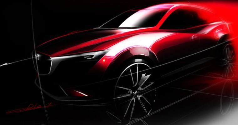 Mazda CX-3 Design Sketch Foreshadows LA Auto Show Debut