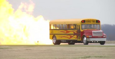 Ms. Frizzle Got Nothin' on this Jet-Powered School Bus That Hits 367 MPH