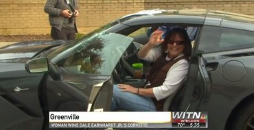 Dale Earnhardt Jr.'s 2014 Corvette Stingray Awarded to Woman with Cancer