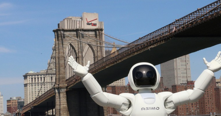 """ASIMO in New York: Beginning Of Robot Uprising Chillingly Documented In """"ASIMO Visits The Big Apple"""" [VIDEO]"""