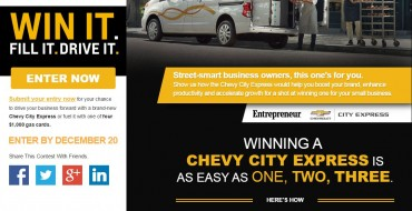 Win a New Van in the Chevrolet City Express to Success Challenge