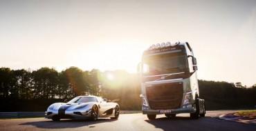 [VIDEO] Volvo FH Truck vs Koenigsegg One:1
