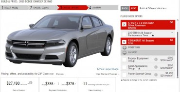 2015 Dodge Charger Configurator Goes Live