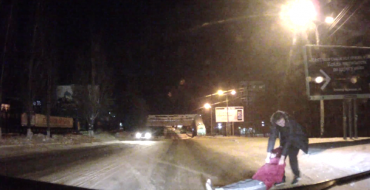 Drunk Person In the Middle of the Road, Hanging Out, Because Russia