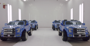 Can Four Power Wheels F-150s Support an Actual 2015 F-150?