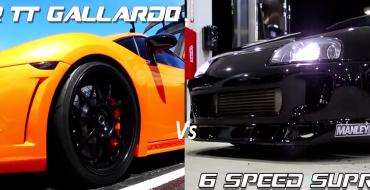 [VIDEO] Supra vs. Lambo: Battle of the Super Fast