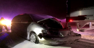 Toyota Sienna Dragged 16 Miles in Blizzard by Semi Truck