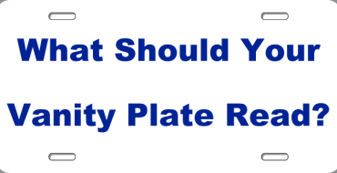 [QUIZ] What Should Your Vanity Plate Read?