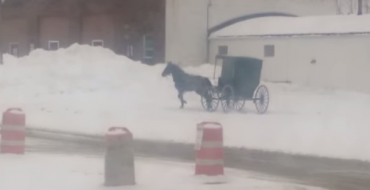 Watch an Amish Buggy Doing Donuts in Ohio