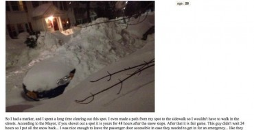 Boston Uber Driver Covers Car in Snow for Stealing His Spot