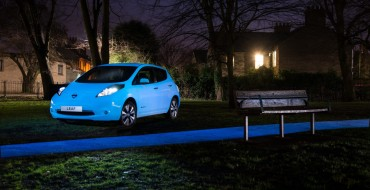 This Glow-in-the-dark Nissan Leaf Looks Like an Alien