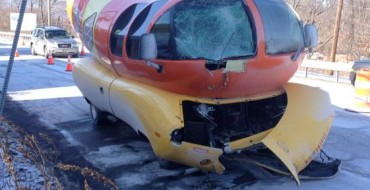 Oscar Mayer Wienermobile Hits Pole, Suffers Bun Damage