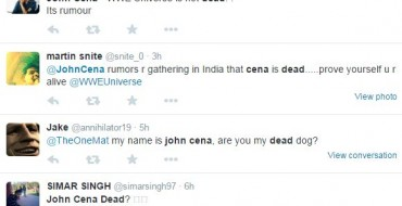 Today in Debunkery: John Cena is Not Dead