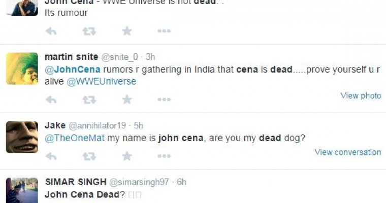 Today in Debunkery: John Cena is Not Dead