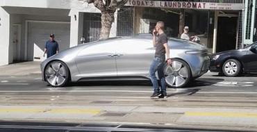 [PHOTOS] Mercedes F015 Self-Driving Car Stretches Its Legs in San Fran