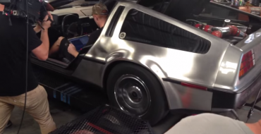UC Student Puts Corvette Engine in a DeLorean