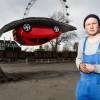 UK Artist Suspends Vauxhall Corsa 15 Feet Above Ground