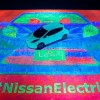 Glow-in-the-dark Nissan LEAF Paints Itself, Breaks World Record