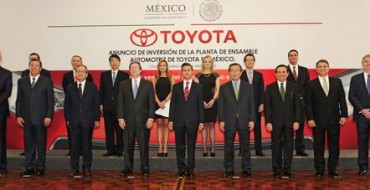 Toyota Outlines 2019 Plans for Manufacturing in Mexico, Canada