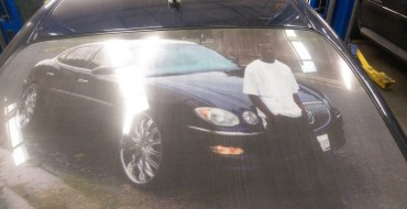 Austin Man Puts Picture of Himself with his Buick on the Back of his Buick
