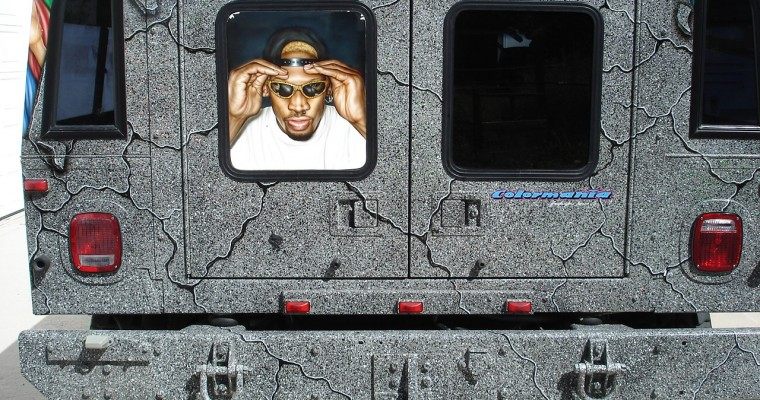 You Can Buy Dennis Rodman's Hideous, Nudie-Covered 1996 Hummer H1