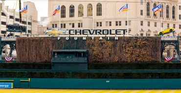 Corvette Z06 Takes Place on Chevrolet Fountain for Tigers Opening Day