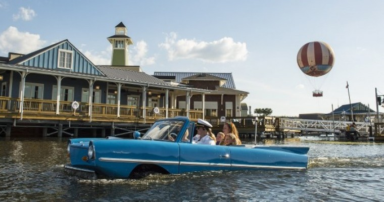 Amphicars at Downtown Disney Make a Splash