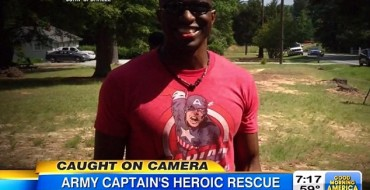 'Captain America' Saves Two from Fiery North Carolina Car Accident