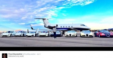 Mayweather's Tweet Reveals Glimpse of his Exotic Car Collection
