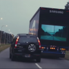 Samsung Safety Truck Uses Rear Display to Make Passing Easy