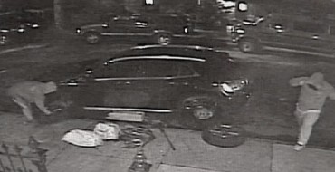 Brooklyn Thieves Caught After Stealing all Four Tires off of a New Mercedes
