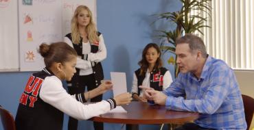Ashley Benson Tutors Norm Macdonald at Chevy's Emoji Academy