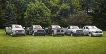 2016 Ram Truck Heavy Duty Lineup Set Power Bar High