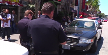 Shirtless San Francisco Man Defecates and Urinates on Police Car