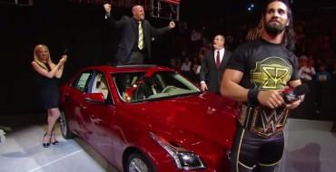 Seth Rollins Thanks J&J Security with 2015 Cadillac CTS on <em>Raw</em>