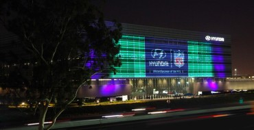 Hyundai US Headquarters Lights Up to Mark New NFL Partnership
