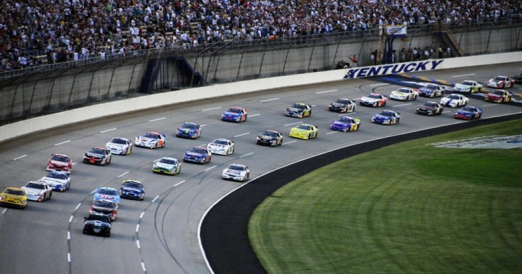 NASCAR Driver Measures Weight Loss During Brickyard 400