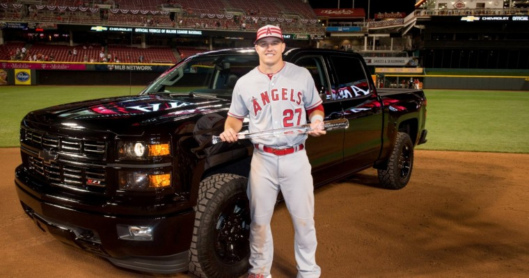 All-Star MVP Mike Trout Chooses Chevy Silverado Over New Camaro