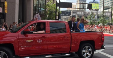 Mike Trout, Clayton Kershaw, Guy in a Bear Costume Parade Through Cincinnati