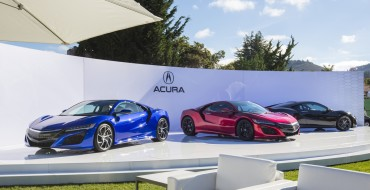 Acura NSX Hits Pebble Beach in Three Different Colors