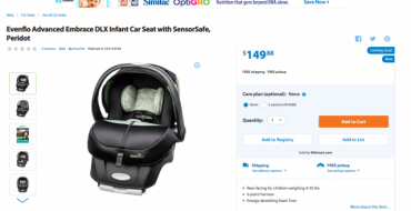 Evenflo Car Seat Uses Sensor to Help Prevent Hot Car Deaths