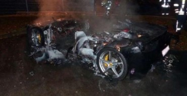 Spoiled Swiss Kid Wants New Ferrari, Sets Fire to Old One