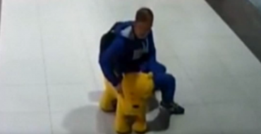 """Pooh""-Dunnit: Belarus Man Steals Winnie-the-Pooh Toy Car From Supermarket"
