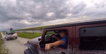 Selfie Stick Florida Man Gets Canoe Through Windshield